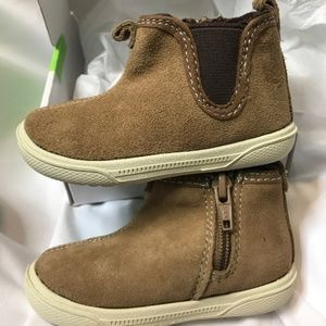 Stride Rite Lil Tabor Brown Suede Baby Boys Boots